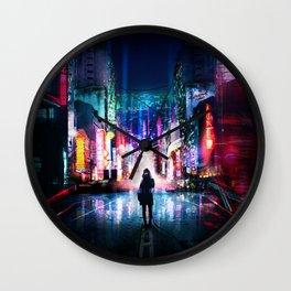 Tokyo Cyberpunk Japan Wall Clock
