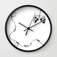 gaming Wall Clocks featuring Gaming Console by Thea Isla Design