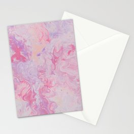 paint stains mixing liquid macro abstraction Stationery Cards