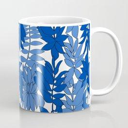 60's Chinoiserie Vines in White + Blue Coffee Mug
