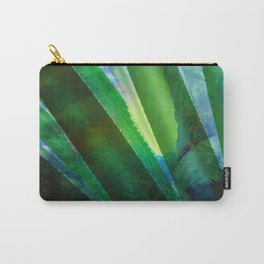 Tropical Ocean Summer Leaves Pattern Green Blue Carry-All Pouch