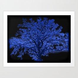 Blue Tree A182 Art Print