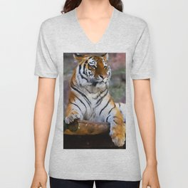 Regal Tiger Unisex V-Neck
