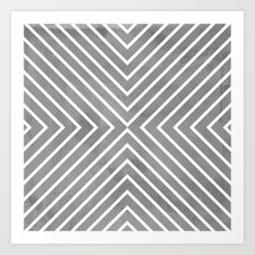 Stripes in Grey Art Print