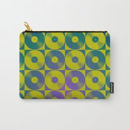 Cool vinyl records pop art pattern Carry-All Pouch