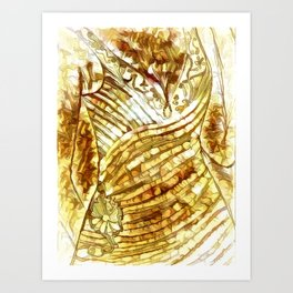 Evening Gown In Abstract Art Print