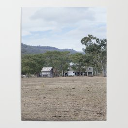 Old Farm House Poster