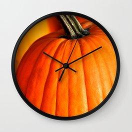 VIVID ORANGE AUTUMN PUMPKINS Wall Clock