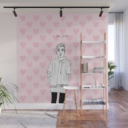 I love Justin Wall Mural