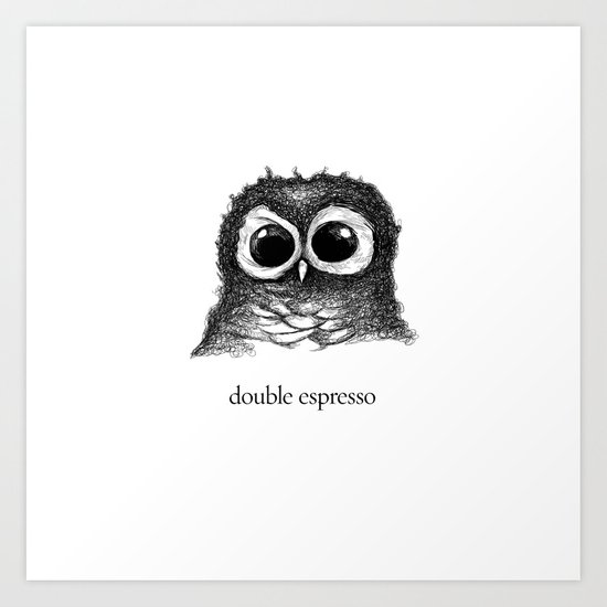 double espresso Art Print