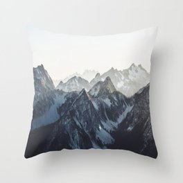 Mountain Mood Throw Pillow