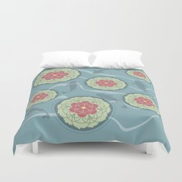 Koi Lotus Pond Duvet Cover