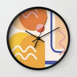 Modern Abstract Shapes Midcentury Art Wall Clock