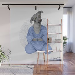 Almost meditating dog 2 Wall Mural