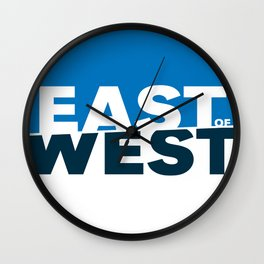 East of West Wall Clock