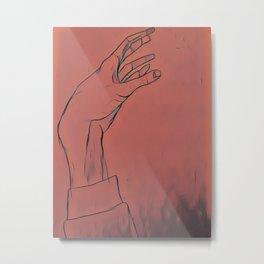 Reaching out Metal Print