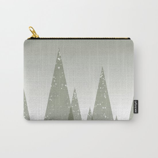 Green Abstract Forest Carry-All Pouch