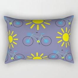 Sunshine And Bicycles Illustration Rectangular Pillow