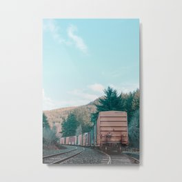 Parked Train Metal Print