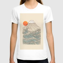 Mount Fuji the great wave  T-shirt