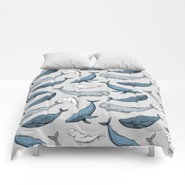 Whales are everywhere Comforters