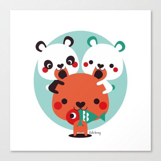 Un montón de osos Canvas Print