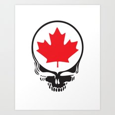 Canadian Steal Your Face (variation) Art Print