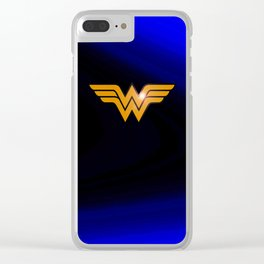 WonderWoman emblem insígnia Wonder Gold, Diana Prince, warrior princess of the Amazons Clear iPhone Case