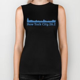 Run New York City Elevation Map 26.2 NYC Biker Tank