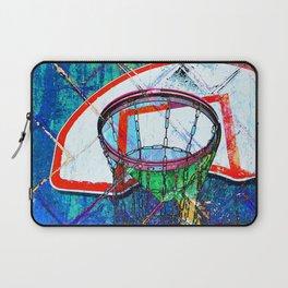 Basketball Hoop, BBall Art, Modern Sports Artwork Laptop Sleeve
