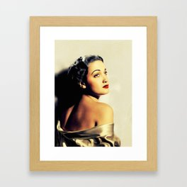 Dorothy Lamour, Vintage Actress Framed Art Print