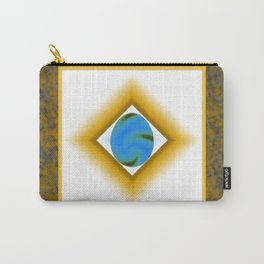 Swirled Egg on Golden Marble Carry-All Pouch