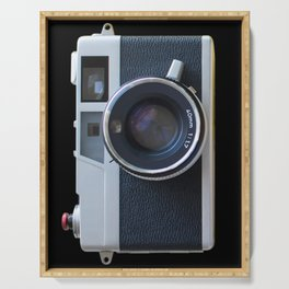 The look of a large lens vintage camera Serving Tray