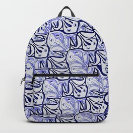 Symmetric Frog Tessellation in Blue Backpack
