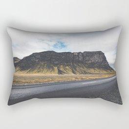 A Mountain on the Left. Iceland Landscape. Roadtrip Travel. Photography. Rectangular Pillow