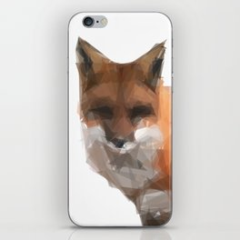 Triangular red fox iPhone Skin