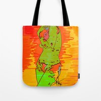 transparent Tote Bags featuring Transparent by Hannah  Aryee