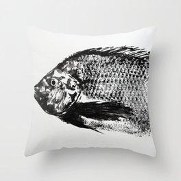 gyotaku - koi fish Throw Pillow