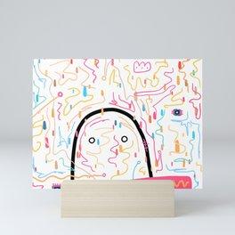 Confetti Crown of Rainbows Mini Art Print