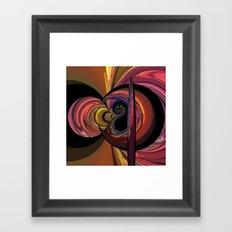 Crescent Moon Fractal Framed Art Print