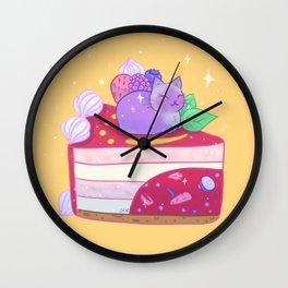 Berry Kitty Cake Wall Clock
