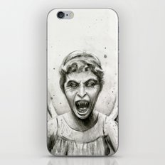 Weeping Angel Watercolor Doctor Who Art iPhone & iPod Skin