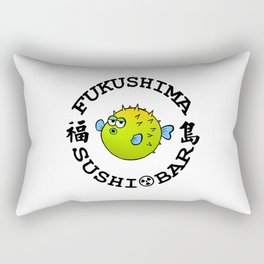 Sushi Bar (White/Black) Rectangular Pillow