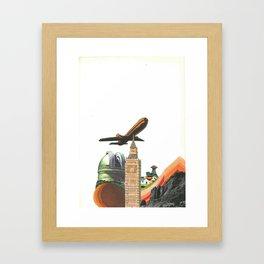 Leaving MoMo City Framed Art Print