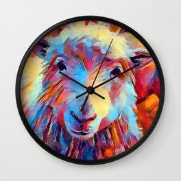 Sheep Watercolor Wall Clock
