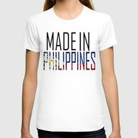philippines T-shirts featuring Made In Philippines by VirgoSpice