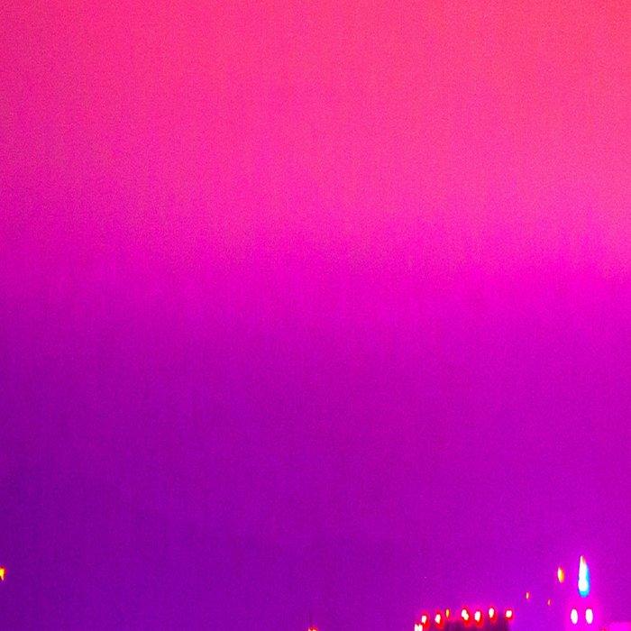 City Skyline Fuchsia Pink Sunset Leggings