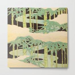 Shin-Bijutsukai – Japanese Design Bamboo At Night Metal Print