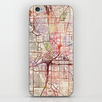 atlanta iPhone & iPod Skins featuring Atlanta by MapMapMaps.Watercolors