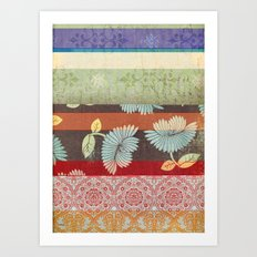 Color Strips Art Print